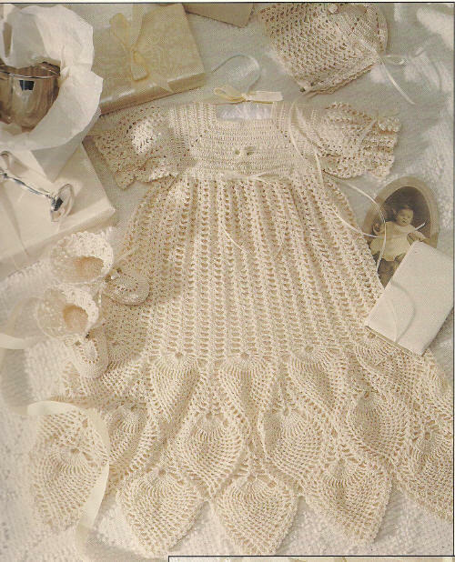 Thread Crochet Patterns Christening Collection Baby Dress or Gown ...