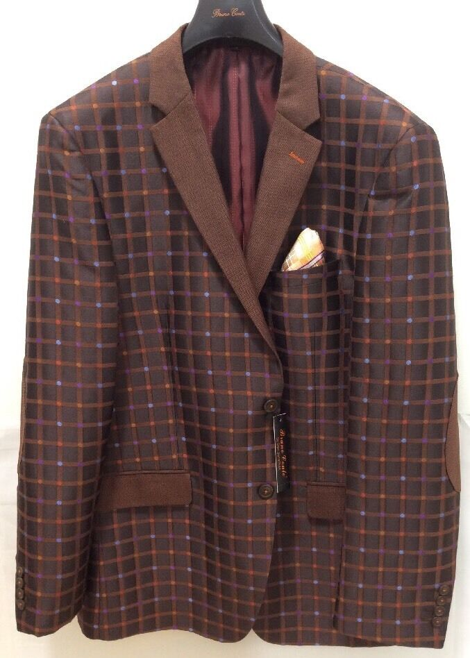Bruno Conte Herren Mehrfarbig Gepunktet Zwei Knopf Trendy Kleid Formelle Blazer     Ausgezeichnete Qualität    Ausgewählte Materialien    Genialität