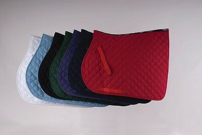 Rhinegold Saddlecloth, Cotton, Quilted, Choice of Size & Colours