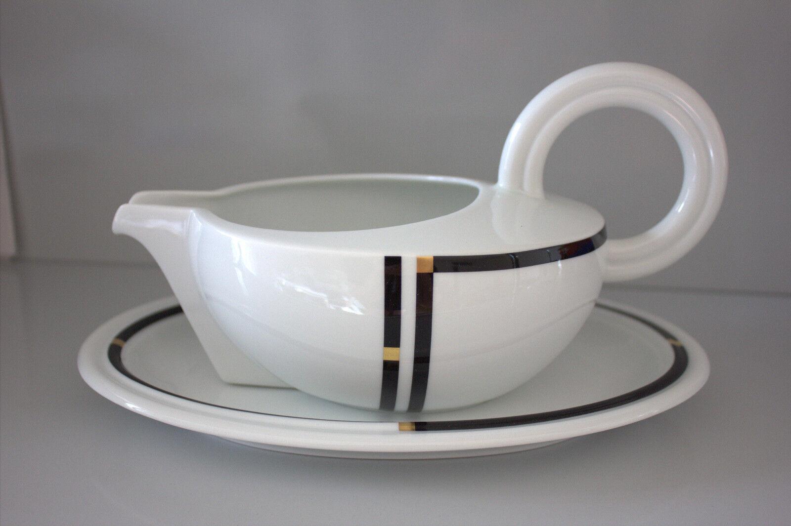 Rosenthal Cupola nera saucière 2tlg I. choix Bellini sauce boat