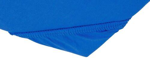 Blau 140x200 bis 160x200cm Soft Comfort Baumwolle Jersey-Stretch Spannbettlaken