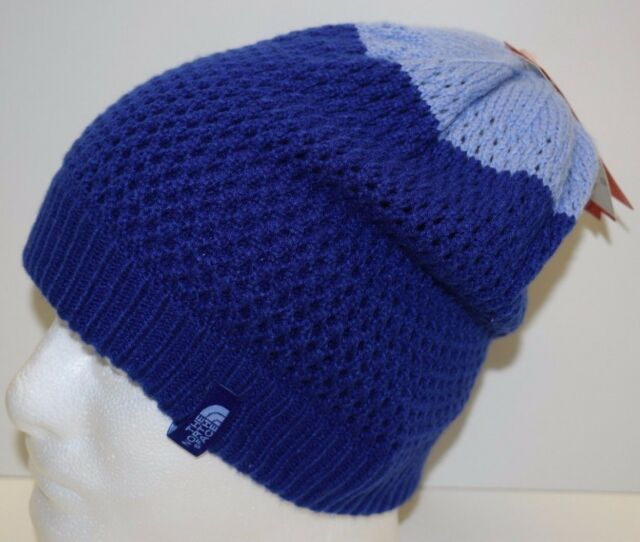 a6329df9d6f00 The North Face Girls Youth Shinsky Beanie Snow Winter Knit Hat Cap Sz S  Blue NEW