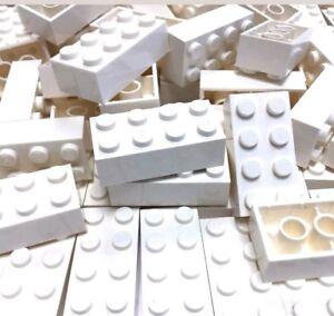 Nouveau Briques Lego 40 X Blanc 2x4 3001 Pièces Pièces Pin Clous Ville Star Wars Vrac Ebay