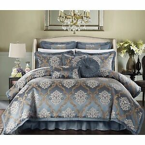 Jacquard 9 Piece Comforter Set Bed In A Bag King Queen 3 Colors Ebay