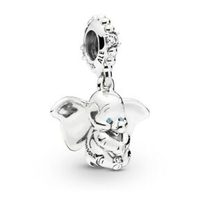 Genuine-PANDORA-Disney-DUMBO-Pendant-Dangle-Charm-797849CZ-Silver-S925-ALE