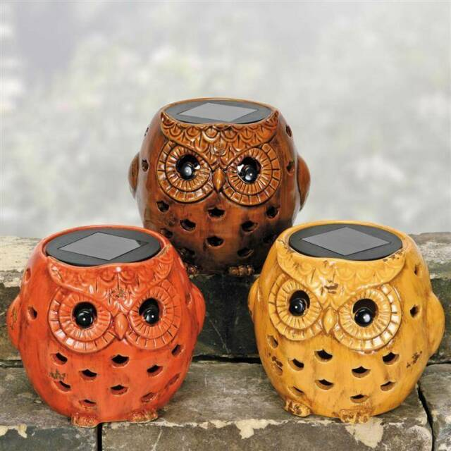 Coyne's and Co. Owl 5 inch Solar Lantern or Tealight Holder in 3 colors D2641