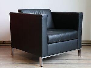 sessel walter knoll foster 501 schwarz leder 111016 03 ebay. Black Bedroom Furniture Sets. Home Design Ideas