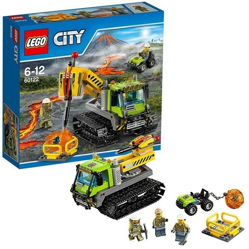 LEGO City (60122) Volcano Crawler (Brand New & Factory Sealed) discontinued Set