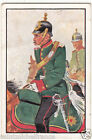 Captain Pickelhaube Saxony 1870 Deutsches Heer Germany Uniform IMAGE CARD 30s