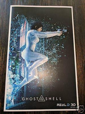 Ghost In The Shell Poster Scarlett Johansson Print Collectors Item Comics Anime Ebay