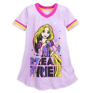 fe3f520057 Image is loading GIRLS-SIZE-5-6-DISNEY-STORE-RAPUNZEL-NIGHTSHIRT-