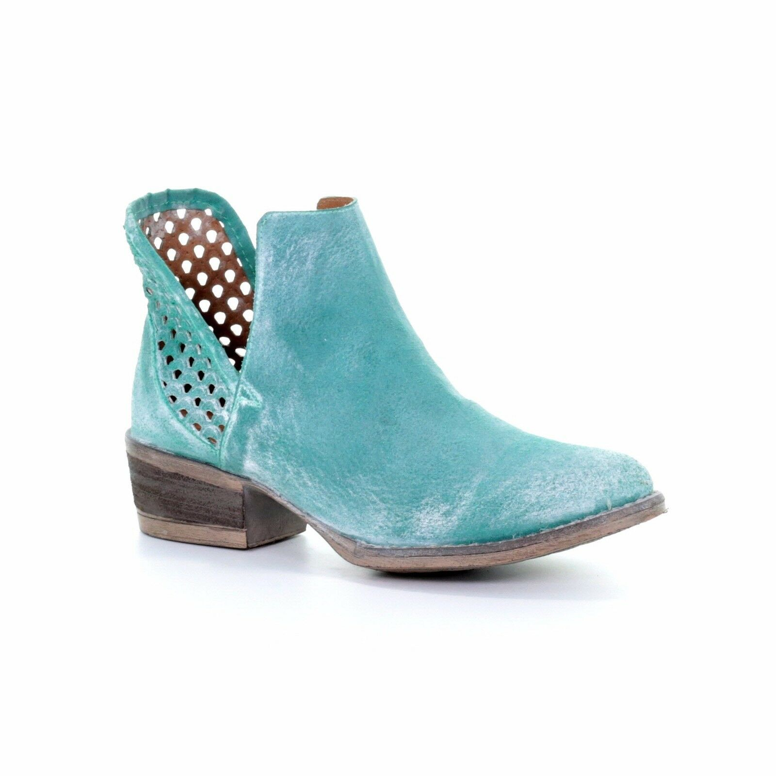 Circle G by Corral Ladies Turquoise Cutout Bootie Q5026
