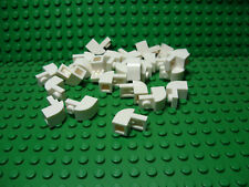 LEGO New Lot of 25 White 2x1 Curved Creator City Slope Pieces