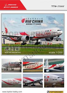 TOPTIERHOBBY 1/200 Boeing 777-300ER - Air China (Smiling China) decal