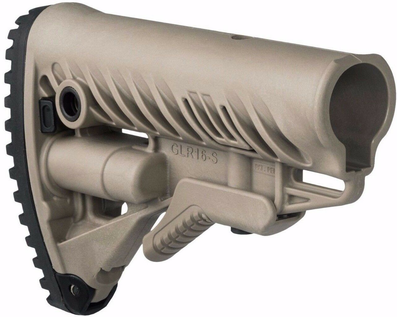 Glr-16-s Fab Defense Color Bronceado Plegable polímero buttstock Anti Slip Cantonera