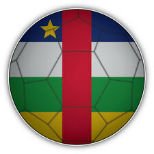 Central African Republic Flag Soccer Ball Car Bumper Sticker Decal 5'' x 5''