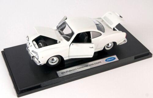 BLITZ VERSAND VW Karmann Ghia Coupe creme Welly Modell Auto 1:18 NEU /& OVP