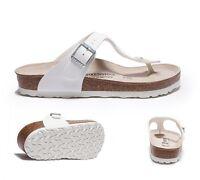 Womens Birkenstock Gizeh White Sandals Rrp £54.99