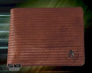 New-Nixon-Arc-SE-Leather-Mens-Brown-Bifold-Wallet
