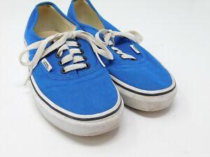 Vans Authentic Sneakers Men's Size 6.5 Low Top Lace Up Blue Skate Shoes