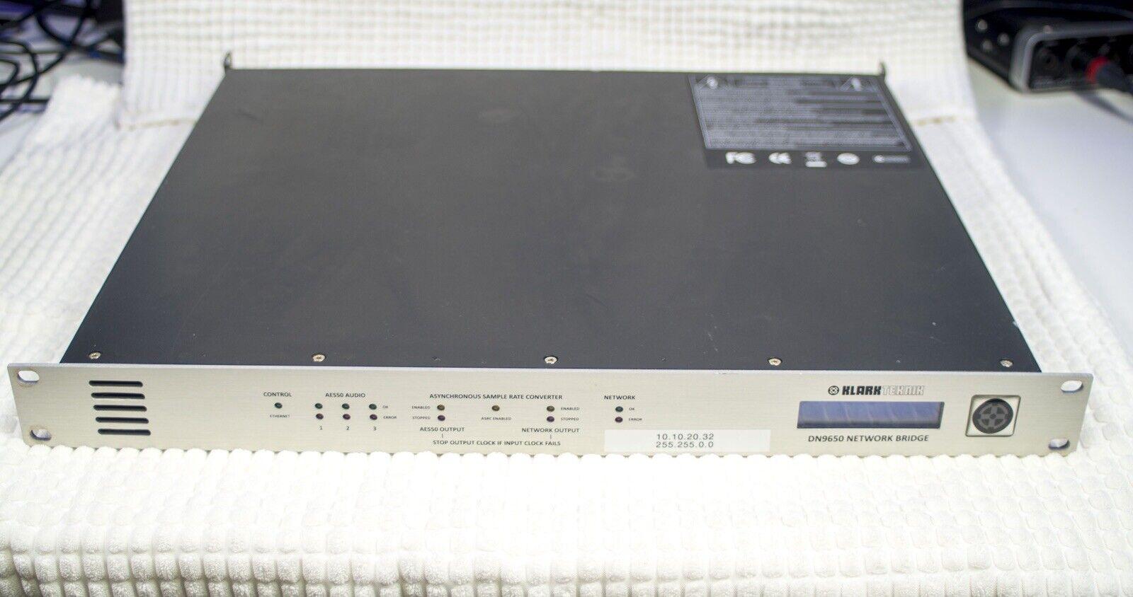 Klark Teknik DN9650 Network Bridge MADI (Used). Buy it now for 1200.00