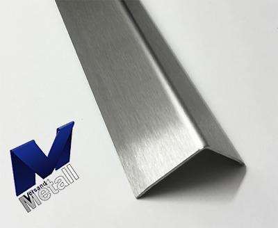 Innen Eckwinkel Edelstahl Abschlussleiste 2500mm 15x65mm 3-fach gekantet V2A.