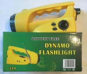 Dynamo-Emergency-Radio-Self-Powered-FM-Radio-with-Flashlight-Hand-Crank-Yellow