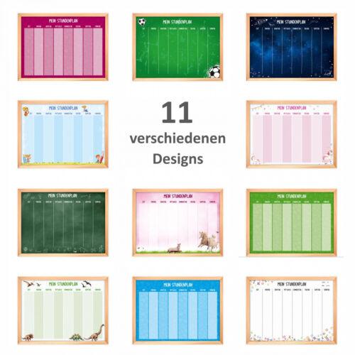 magnetischer Stundenplan Tafel grün mit 90 Magneten