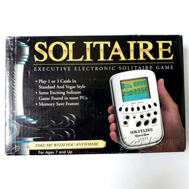 Excalibur Solitaire Handheld Electronic Game Great for travel