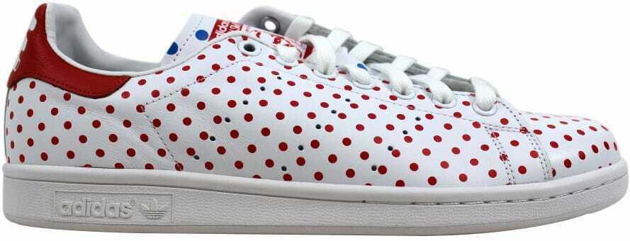 Adidas Pharrell Stan Smith Polka Dot White Red-bluee B25401 Men's Size 13