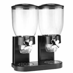 HI-Duo-Cereal-Dispenser-Double-Containers-Black-2x3-5L-Food-Storage-Dispenser