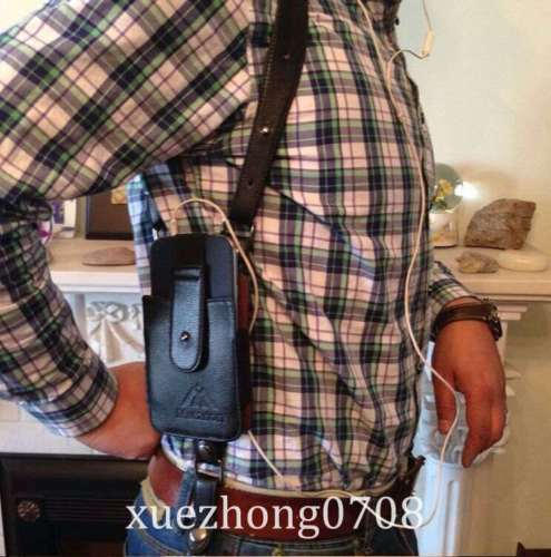 Leather Anti-Theft Hidden aisselles Holster style Shoulder Wallet Phone Bag