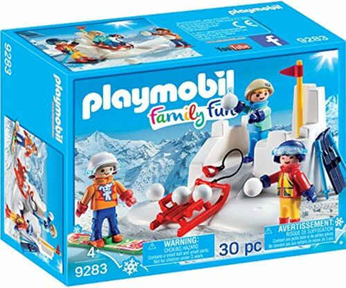 PLAYMOBIL Snowball Fight Building Set