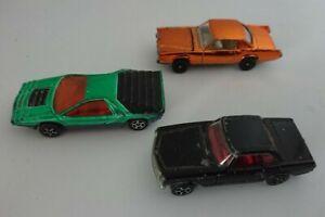 CORGI-razzi-x-3-CARABO-BERTONE-MERCEDES-280SL-Cadillac-EL-DORADO