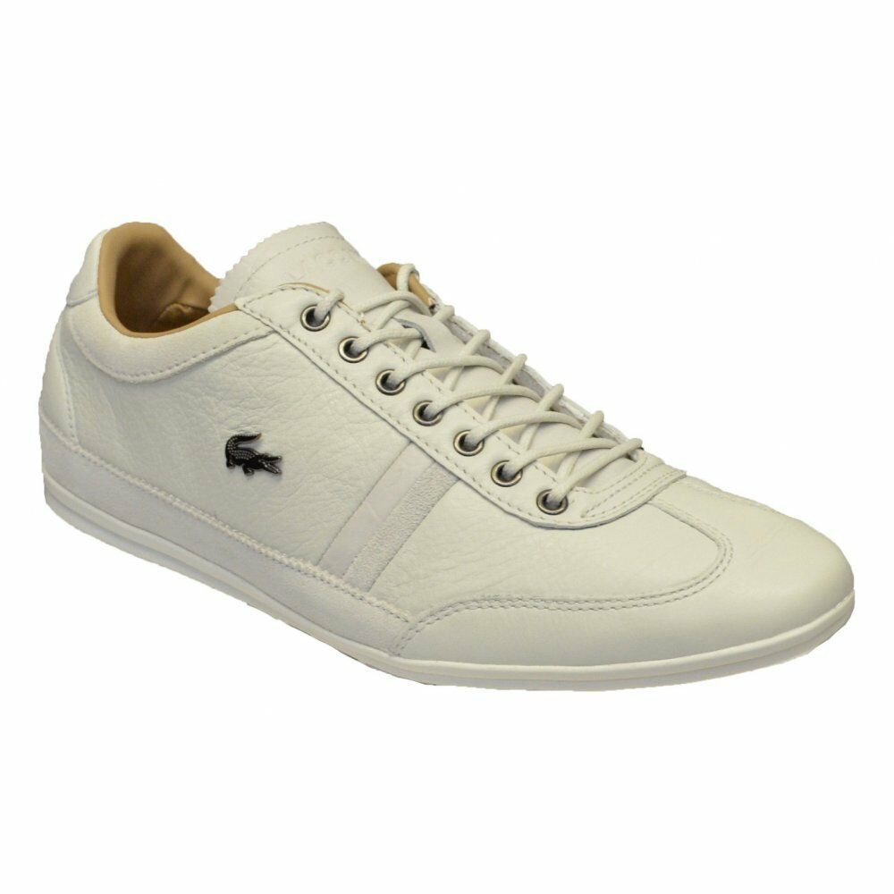 Lacoste Misano 36 SRM Texturot Leather   Suede Off Weiß (N13) Mens Trainers