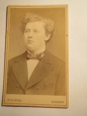 Würzburg - Paul Müller Vulgo Thor Als Student - 1879 - Cdv / Studentika