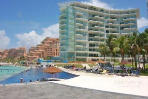 Punta Cancun departamento  en venta 3 rec piso alto C2819