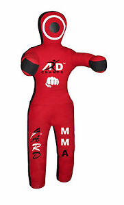 ARD Brazilian Grappling Canvas Straight Dummy MMA Wrestling Judo Red/Black