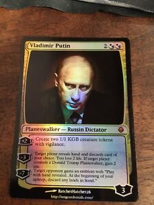 Vladimir-Putin-Magic-The-Gathering-MTG-card-Planeswalker-President-Russian