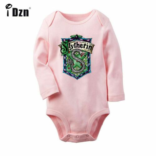 Slytherin Print Newborn Jumpsuit Baby Long Sleeve Romper Bodysuit Clothes Outfit
