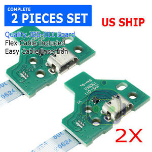 2X-USB-Charging-Port-Socket-Board-JDS-011-for-SONY-PS4-Controller-12-pin-Cable