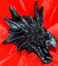 Nemesis Now Negro Dragones furia Placa Colgante De Pared Cabeza de Dragón