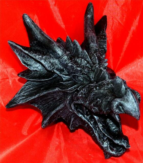 Nemesis Now BLACK DRAGONS FURY WALL HANGING Plaque Dragon Head