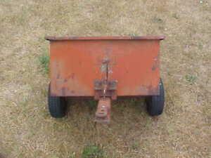Vintage Sears Dump Trailer For Riding Lawn Mower Garden Tractor Ebay