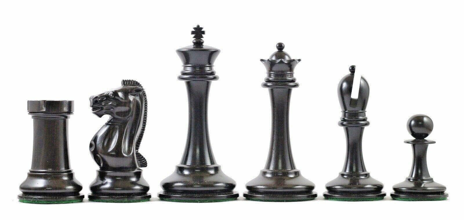 B & Company Reproduction Distressed Antiqued Staunton Staunton Staunton 4.4  Ebony Chessmen 39da4e