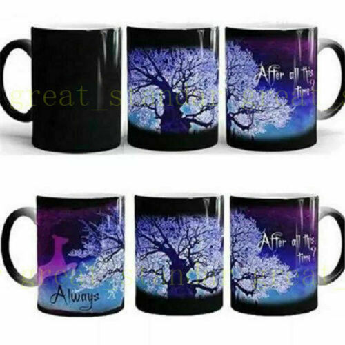 Magic Cup Black//Glossy Details about  /6pcs 11OZ Blank Sublimation Full Color Changing Mugs