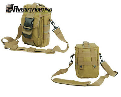 Men Tactical MOLLE Shoulder Bag Sling Pack Sports Messenger Bag Pack Backpack