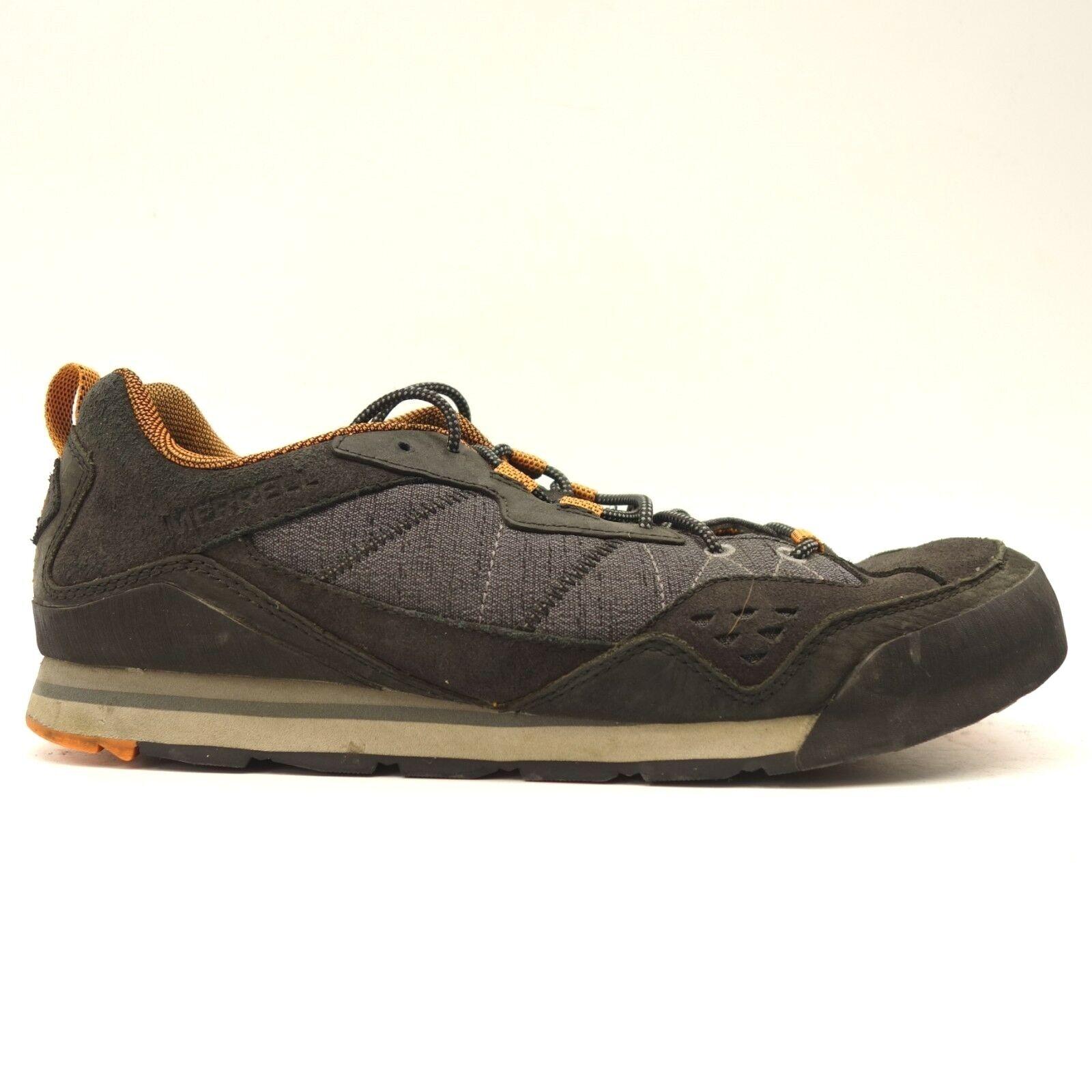 Merrell Para Hombre Quemado Rock Negro DEPORTIVOS ATLÉTICOS INFORMALES Trail Running Zapatos
