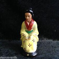 alter Rauchverzehrer aus Porzellan,Gescha,Frau im Kimono