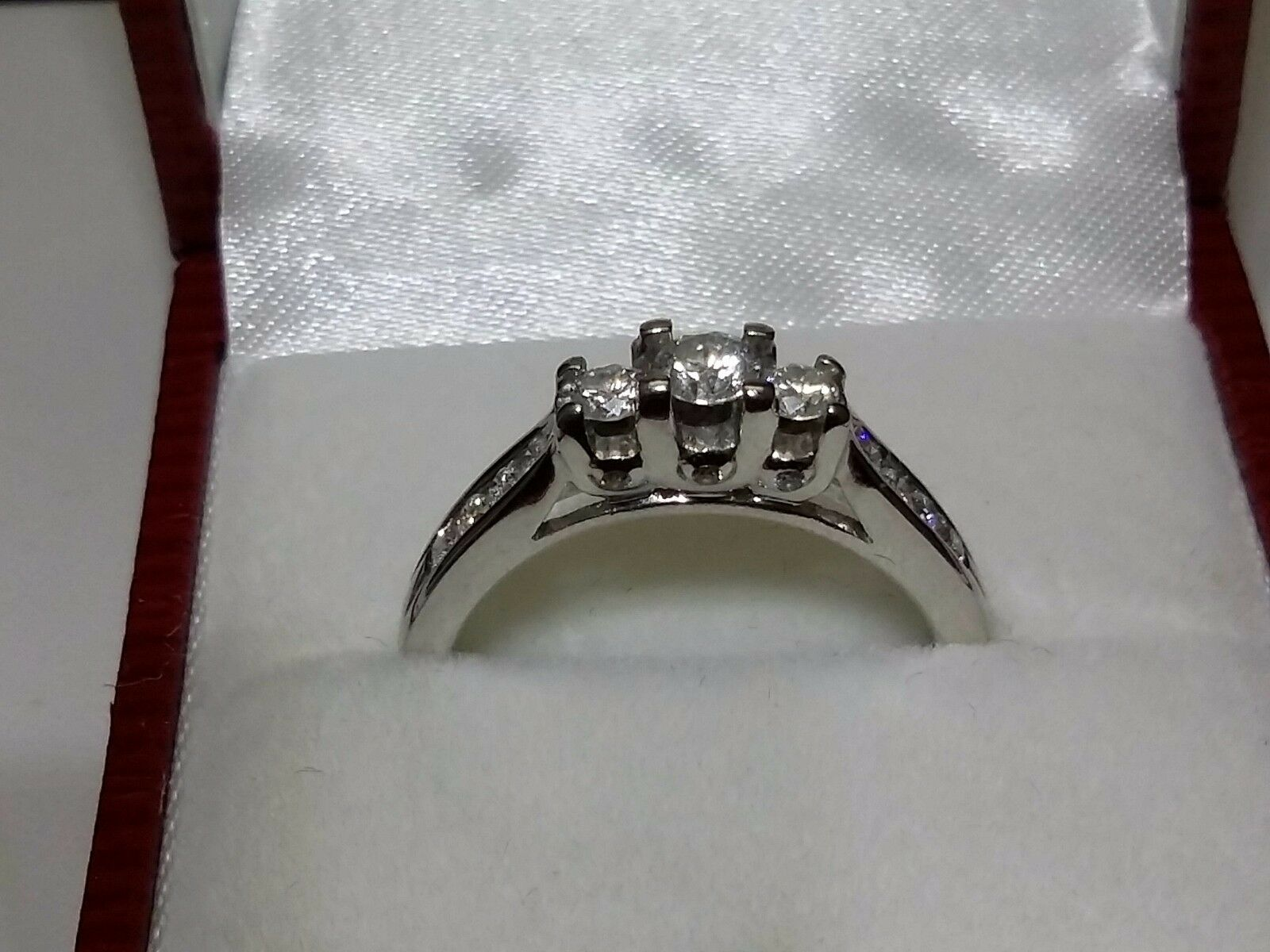 14kt White gold Ring with Diamonds Size 7.5 Appraisal included  3,800.00